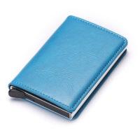 Porte cartes protection RFID, simple bleu ciel