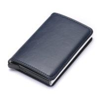 Porte cartes protection RFID, simple bleu nuit