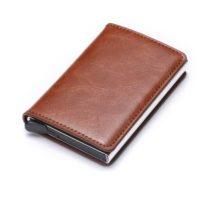 Porte cartes protection RFID, simple caramel