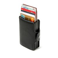 Porte cartes protection RFID, double noir