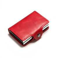 Porte cartes protection RFID, double rouge