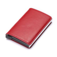 Porte cartes protection RFID, simple rouge